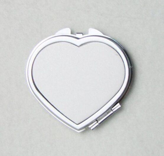 Smink tükör, szív alakú