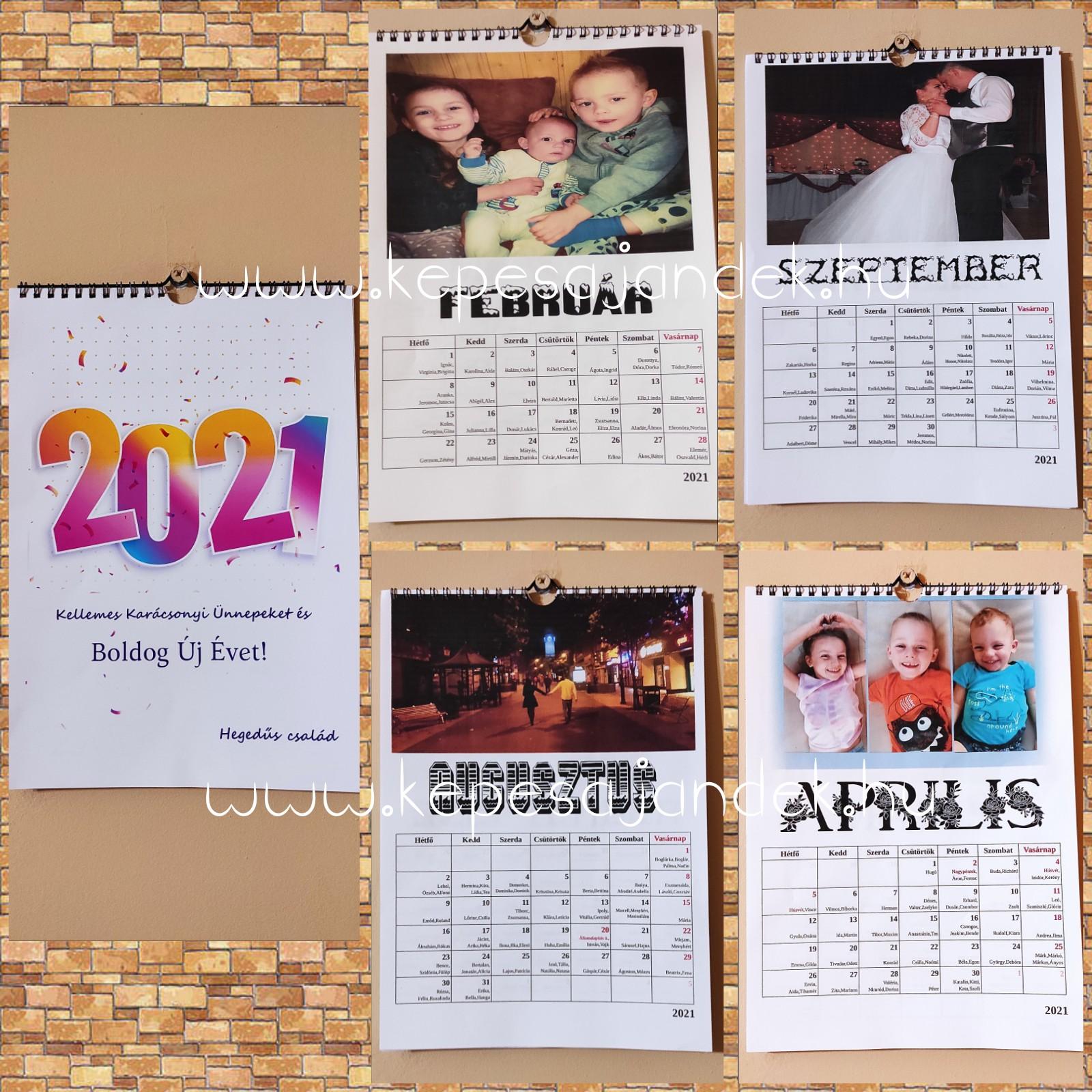 2021-es, 12 lapos naptár